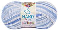 """Пряжа Nako Baby Lolipop """"80431"""" Детская для Ручного Вязания"""