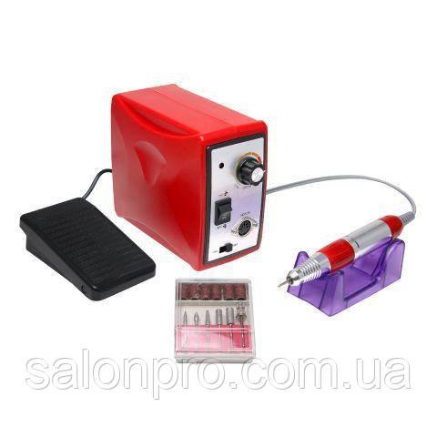 Фрезер для маникюра и педикюра Nail Drill Set ZS-701, 35000 оборотов, 65 Вт, красный