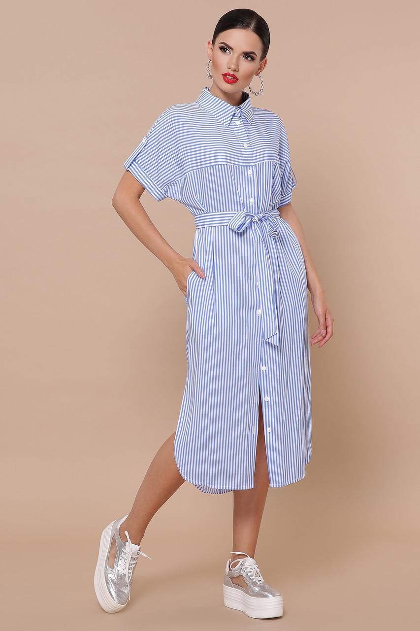 Платье-рубашка Дарья-2 к/р