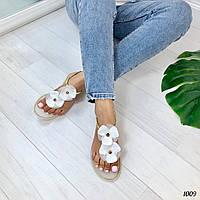 Женские белые босоножки вьетнамки силиконовые, фото 1