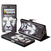 "Чехол с принтом на телефон 5.5"" дюйма № 5022 Lion black"