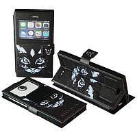 "Чехол с принтом на телефон 5.5"" дюйма № 5023 Cat black"
