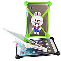 Чехол универсальный силиконовый для планшетов Rabbit Белый