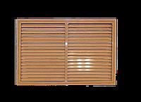 Пластиковая решетка для батареи РСП 60 на 90 см дуб старый, фото 1
