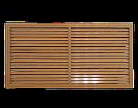 Пластиковая решетка для батареи РСП 60 на 120 см дуб старый