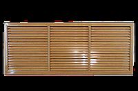 Пластиковая решетка для батареи РСП 60 на 150 см дуб старый