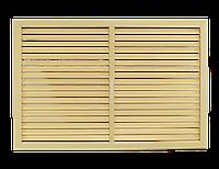 Пластиковая решетка для батареи РСП 60 на 90 см бежевая