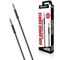 AUX cable 3.5mm BRUM UX002 (1M) Чёрный