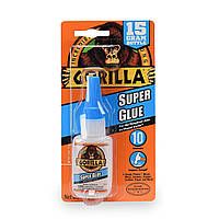 Супер клей склеює пластик, дерево, метал, кераміку, гуму, шкіру, папір Gorilla 15 g