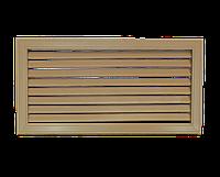 Пластиковая решетка для батареи РСП 60 на 30 см дуб