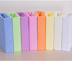 Детская простынь на резинке махровая 60х120х10 см, разные цвета