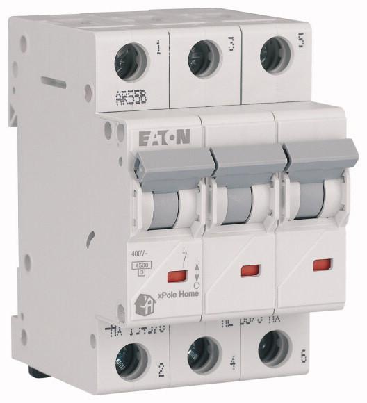 3 пол., 16А, 4.5кА, С, EATON, Автоматичний вимикач, HL-C16/3 [194791]