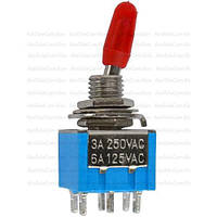 Тумблер MTS-203 (ON-OFF-ON), 6pin, 3A 250VAC