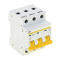 Автоматичний вимикач ВА47-29 3Р 25А 4,5кА з ІЕК [MVA20-3-025-C]