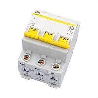 Автоматичний вимикач ВА47-29 3Р 6А 4,5кА з ІЕК [MVA20-3-006-C]