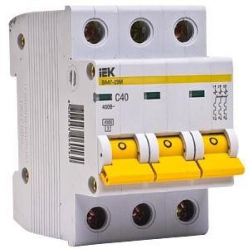 Автоматический выключатель ВА47-29 3Р 40А 4,5кА С ІЕК [MVA20-3-040-C] ИЕК