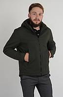 Мужская весенняя куртка Aziks м-070 табачная 50