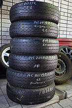 Шины б/у 195/70 R15C Bridgestone, ЛЕТО, 5-6 мм, комплект+пара