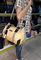 Спортивная сумка Dolly 932 кожзам и текстиль плечевой ремень Украина 38см х 22см х 21см