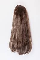 Ровный шиньон на крабе №10. цвет мелирование темно-русый и карамельный блонд