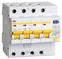 Дифференциальный автоматический выключатель АД14 4Р 25А 30мА ІЕК [MAD10-4-025-C-030] ИЕК