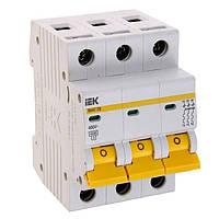 Автоматичний вимикач ВА47-29 3Р 50А 4,5кА D ІЕК [MVA20-3-050-D]