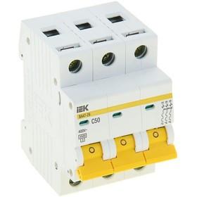 Автоматичний вимикач ВА47-29 3Р 50А 4,5кА з ІЕК [MVA20-3-050-C]