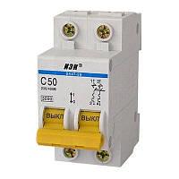 Автоматичний вимикач ВА47-29 2Р 50А 4,5кА з ІЕК [MVA20-2-050-C]