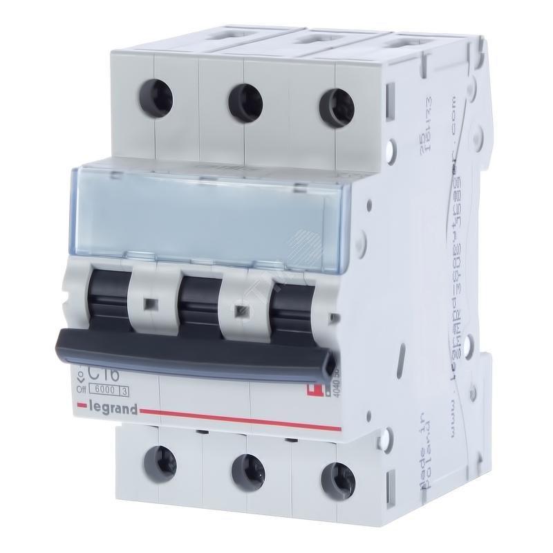 3 пол., 16А, 6кА, С, Legrand, Автоматичний вимикач, TX3 [404056]