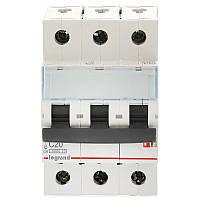 3 пол., 20А, 6кА, С, Legrand, Автоматичний вимикач, TX3 [404057]