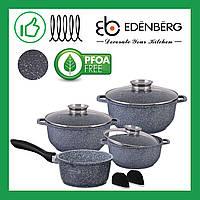 Набор кастрюль с гранитным покрытием из 9 предметов Edenberg (EB-8010)