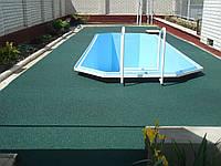 Гумове покриття для басейну.1000х1000 мм, Товщина 10 мм, фото 1