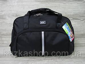 Дорожная сумка хорошего качества, среднего размера 50х33х23 см, плотный материал Черный