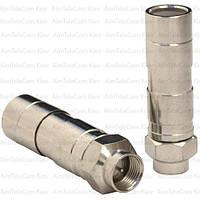 Штекер F для кабеля RG-11, компрессионный, медь 1уп-50шт
