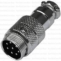 Разъём штекер MIC 348, под кабель, 8pin, диаметр - 16мм