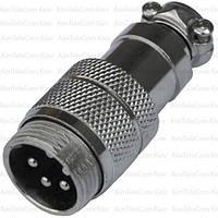 Разъём MIC 345, штекер, под кабель, 5pin, Ø16мм