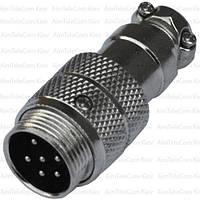 Разъём MIC 346, штекер, под кабель, 6pin, Ø16мм