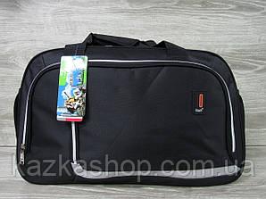 Дорожная сумка хорошего качества, большого размера 60х34х22 см, плотный материал Черный