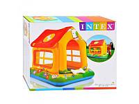 Детский надувной игровой центр домик intex 57429