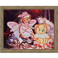I.B. Studio Б-4072 Эльф и мишка, рисунок на ткани под бисер