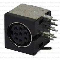 Гнездо mini DIN 8 pin, монтажное, корпус пластик