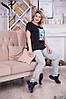 Женская летняя футболка с интересной аппликацией спереди, батал большие размеры, фото 2