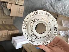 Белая гипсовая люстра на 5 плафонов, фото 2
