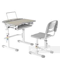 Комплект растущей мебели Парта 70х55 см и стул-трансформеры для детей 3 - 12 лет ТМ FunDesk Sorriso Grey