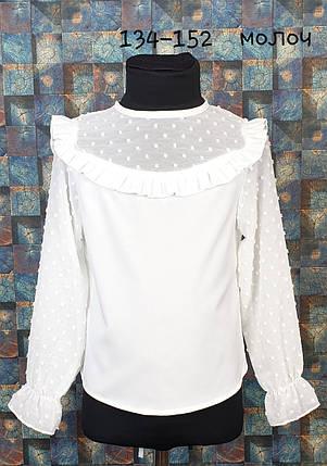 Школьная блузка Милашка 134-152 молочный, фото 2