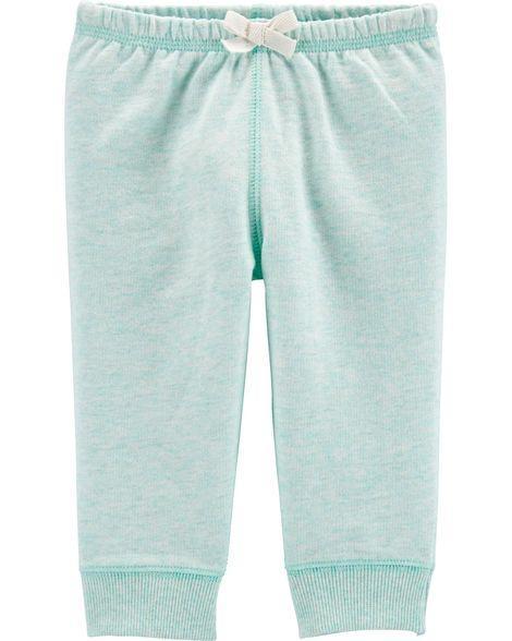 Спортивные брюки Carters (Картерс) для девочки, бирюзовые 18М(78-83 см)