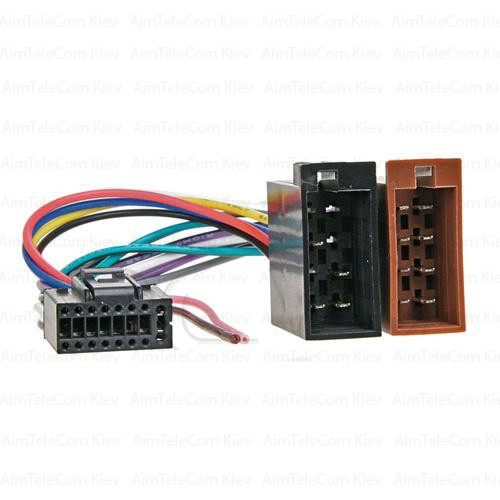 Перехідник автомагнітоли ISO 459006 JVC -ISO з кабелем 20см