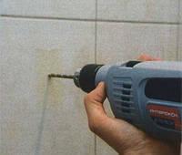 Сверление отверстия в плитке под смеситель