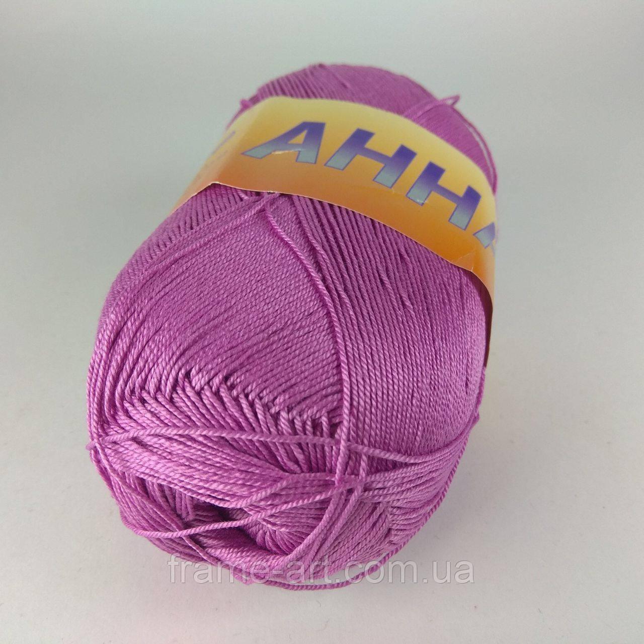 Пряжа Анна 14 100г/450м 086 розовый