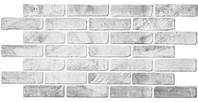 Стінні декоративні панелі ПВХ Грейс (Grace)- Цегла старий сірий 980х490мм